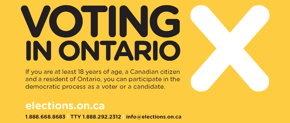 Vote in the Ontario General Election this Thursday June 12 2014
