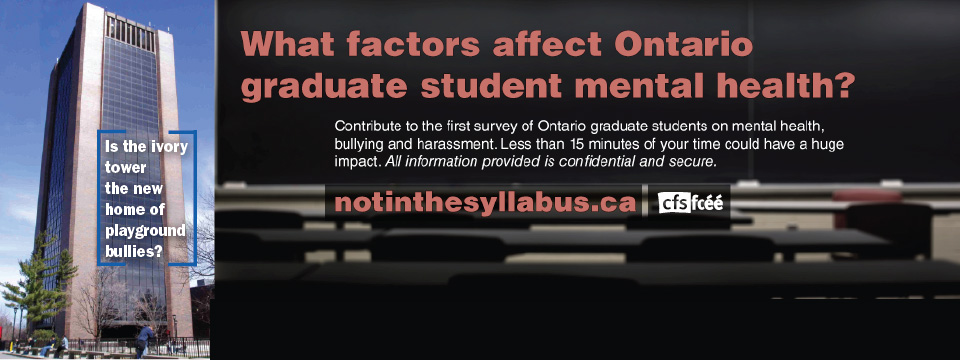 Not in the Syllabus- Graduate Student Mental Health Campaign