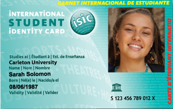 Association Students' Carleton Graduate Cards Isic University