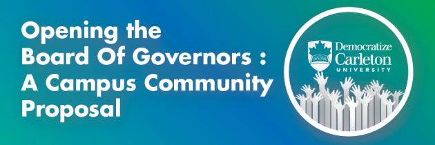 Opening the Board of Governors