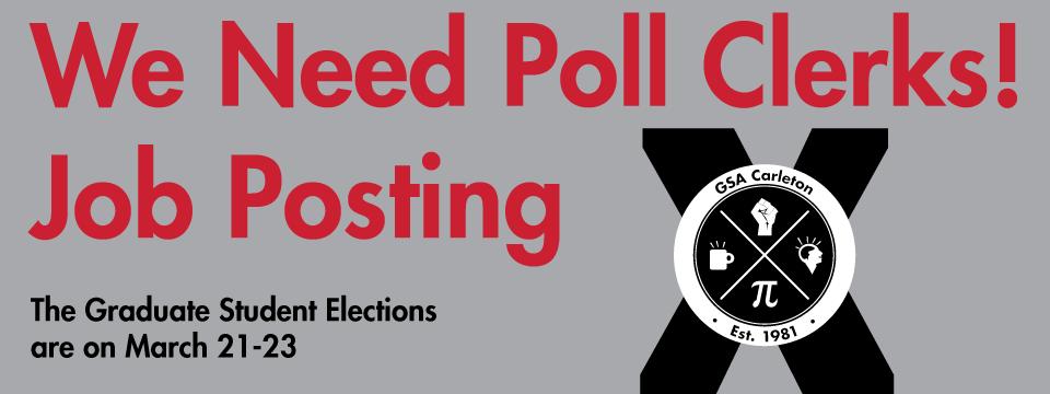 Job Posting – Poll Clerks 2017