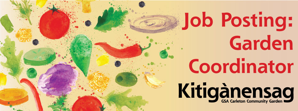 JOB POSTING:  Community Garden Coordinator